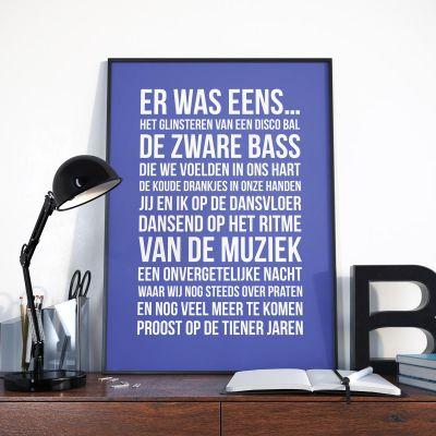 Persoonlijke Posters - Personaliseerbare poster – er was eens...