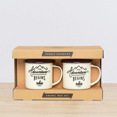 Buiten - Emaille Outdoor Espresso Mok Set