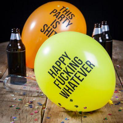 Gekke Gifts - Abusive balloons - pakket van 12