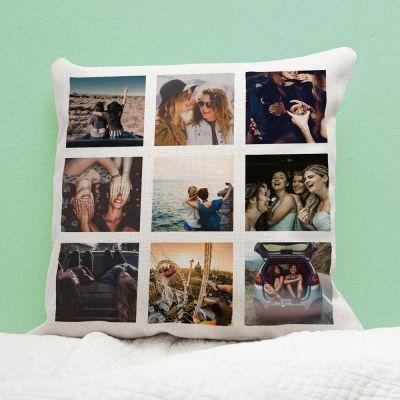 Decoratie - Personaliseerbare kussensloop met 9 foto's