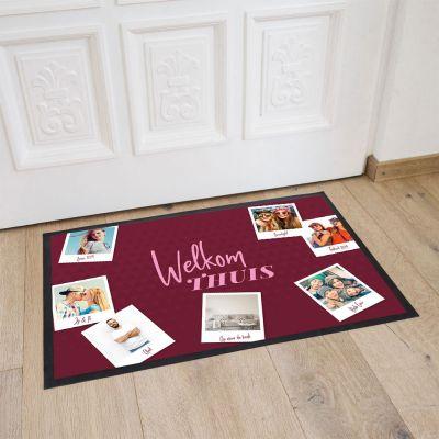 Exclusieve producten - Personaliseerbare deurmat met 7 afbeeldingen en tekst