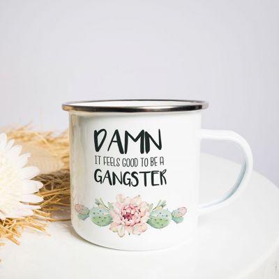 Grappige cadeaus - Metalen mok - Gangster