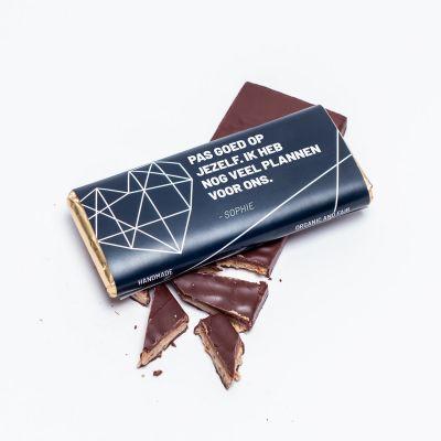 Gepersonaliseerde chocolade - Personaliseerbare chocolade met tekst
