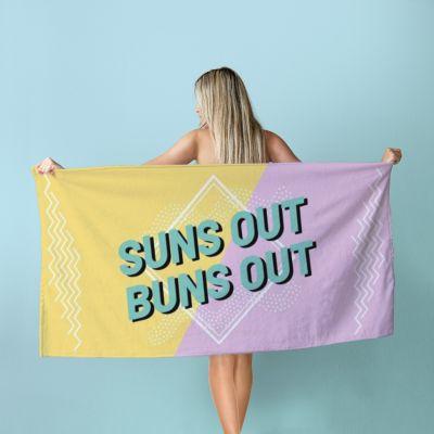 Gepersonaliseerde handdoek in kleur