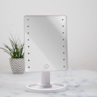Badkamer - Witte Hollywood spiegel met LEDs