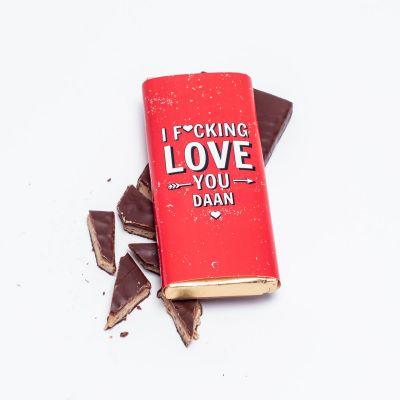 Gepersonaliseerde chocolade - Personaliseerbare chocolade – I f*cking love you