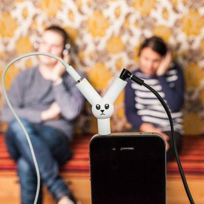 Luidsprekers & headsets - Jack Rabbit koptelefoon-splitter