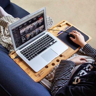 Home Gadgets - Laptop onderzetter van hout