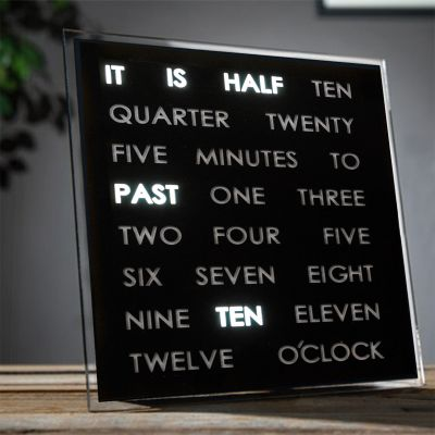 Cadeau voor koppel - LED Word Clocks