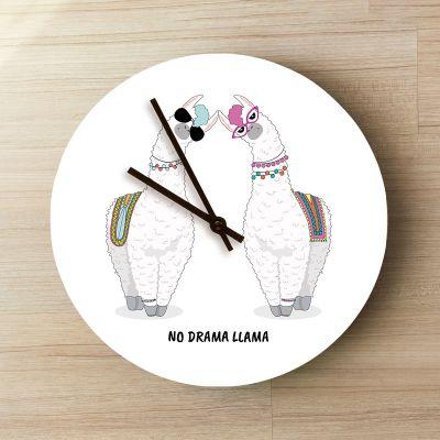 Gepersonaliseerde klokken - Personaliseerbare Lama Klok