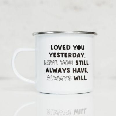 Exclusieve mokken en glazen - Metalen mok - Loved You Yesterday