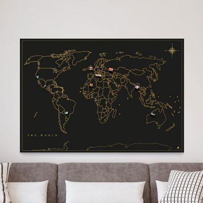 Decoratie - Magneet verzamel wereldkaart
