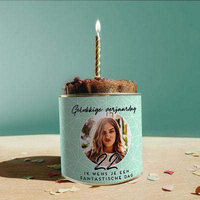 Cadeau voor haar - Personaliseerbare verjaardags Cancake