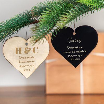Nieuw - Kerstboomversiering met hart