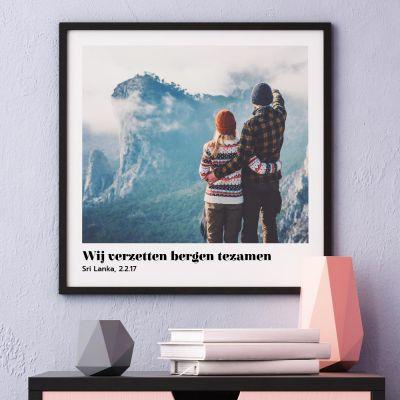 Valentijnscadeau - Poster met foto en tekst