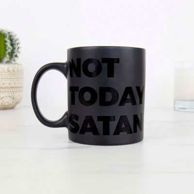 Nieuw - Not Today Satan Mok