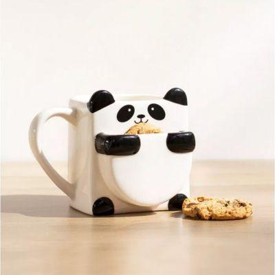 Back to school cadeaus - Panda mok met koekjeshouder