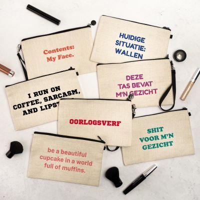 Verjaardagscadeaus voor 18 - Personaliseerbaar make-up tasje
