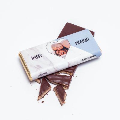 Gepersonaliseerde chocolade - Personaliseerbare chocolade met foto hartje en tekst