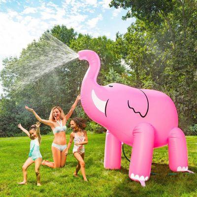 Tuinfeest decoratie - Gigantische roze olifant sproeier