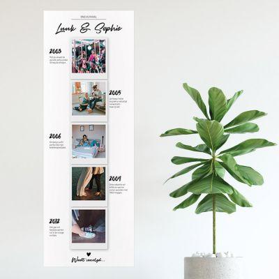 Decoratie - Personaliseerbare foto poster – onze verhalen