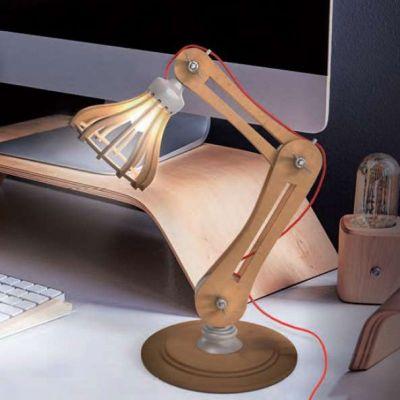 Verlichting - DIY Bureaulamp uit Hout