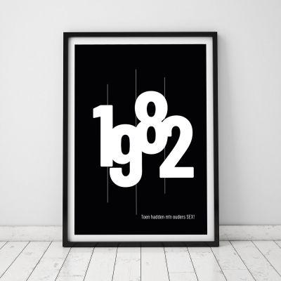 Baby cadeaus - Personaliseerbare poster met geboortejaar