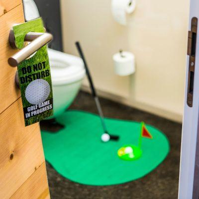 Badkamer - De ultieme golfset voor op het toilet