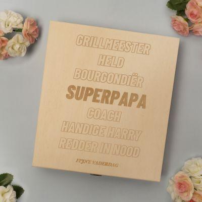 Moederdag cadeau - Personaliseerbaar kistje met bonbons