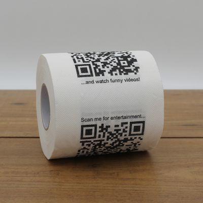 Badkamer - Toiletpapier met QR-codes