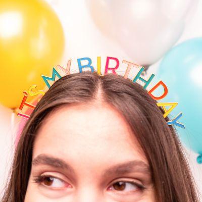 Verjaardagscadeau - Verjaardag Tiara in regenboogkleuren