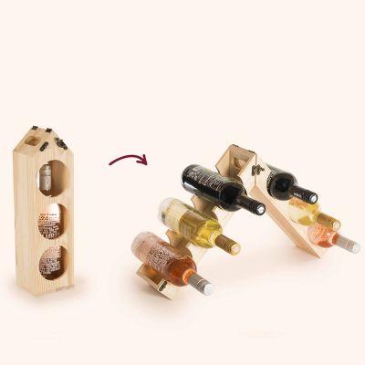 Bar accesoires - Wijn kistje met wijnrek functie