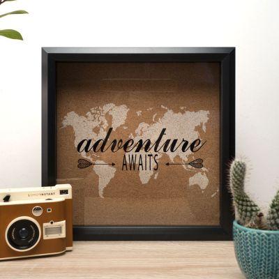 Decoratie - Reis herinneringen en spaarpot