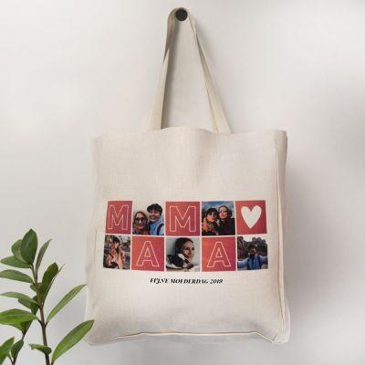 Moederdag cadeau - Personaliseerbare tas mama met foto's