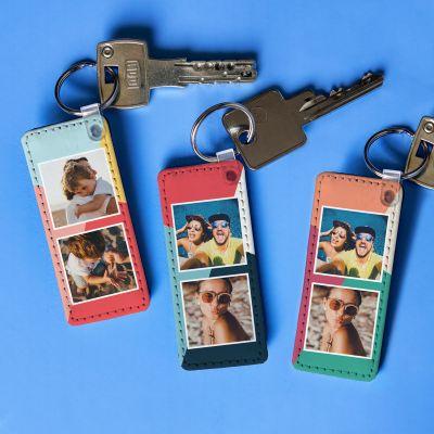 Housewarming cadeau - Personaliseerbare sleutelhanger met 2 afbeeldingen