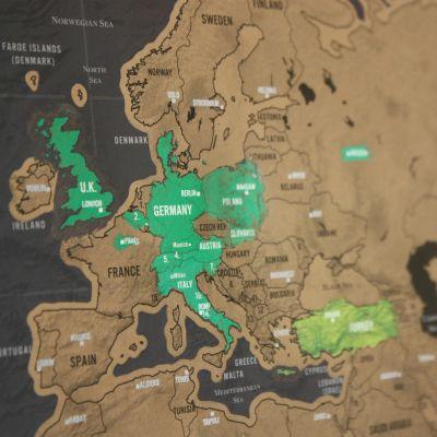 Cadeau voor koppel - Kras-wereldkaart Scratch Map Deluxe