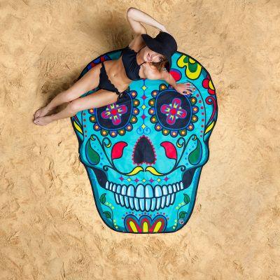 Grappige cadeaus - Sugar Skull strandlaken
