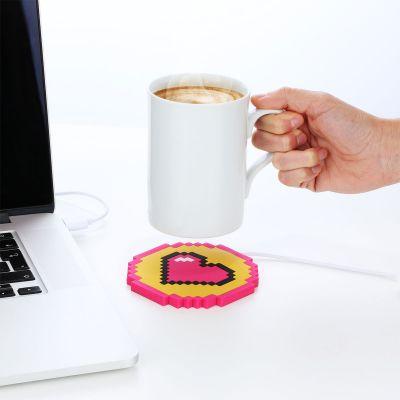 Plezier op kantoor - USB mokverwarmer hartje