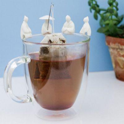 Kerstcadeau voor ouders - Visser theezakjeshouder set van 4