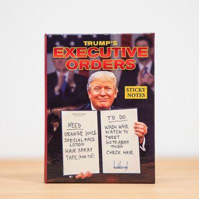 Plezier op kantoor - Notitieblokje met orders van de president