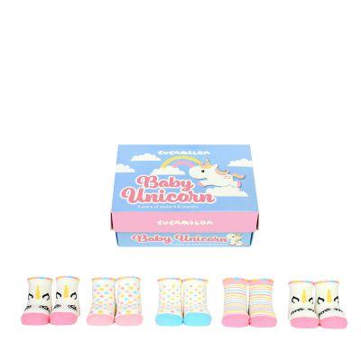 Baby cadeaus - Eenhoorn baby-sokken - set van 5