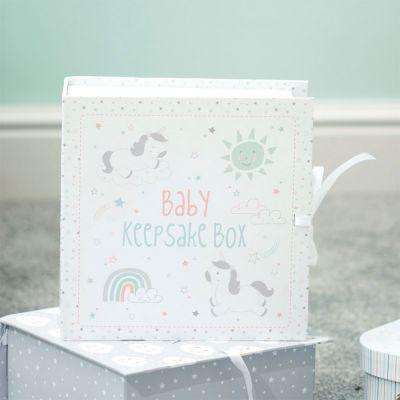 Baby cadeaus - Eenhoorn herinneringsbox voor baby's