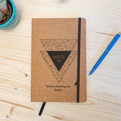 Back to school cadeaus - Personaliseerbaar Kurken Notitieboek - Write In
