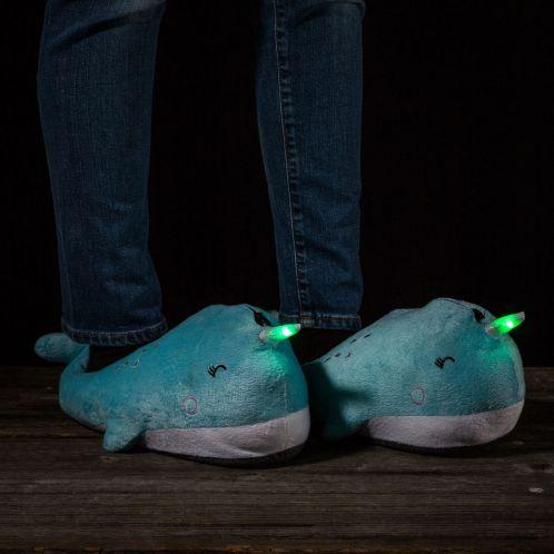 Verjaardagscadeau - Lichtgevende walvis pantoffels