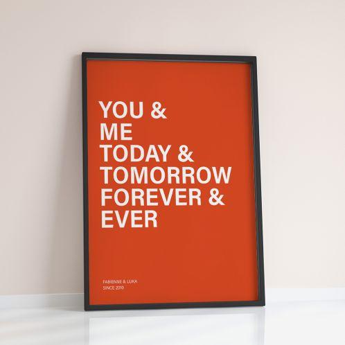 You + Me + … - Personaliseerbare poster