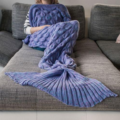 Verjaardagscadeau - Zeemeermin deken