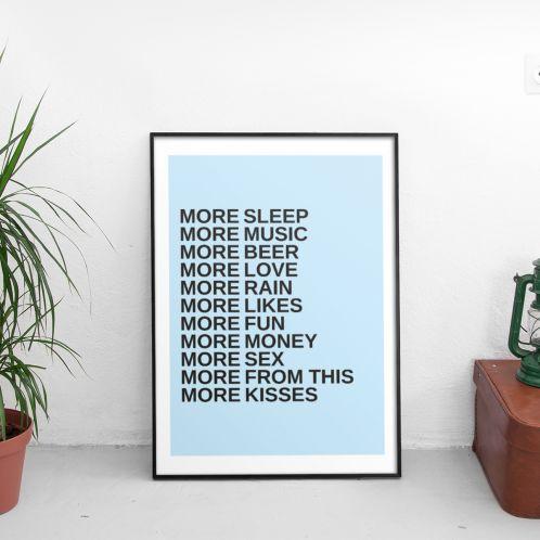 More - Personaliseerbare poster