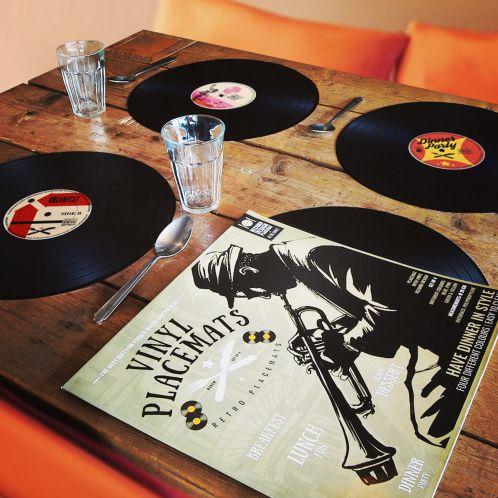 Verjaardagscadeau - Vinyl Placemats Set van 4