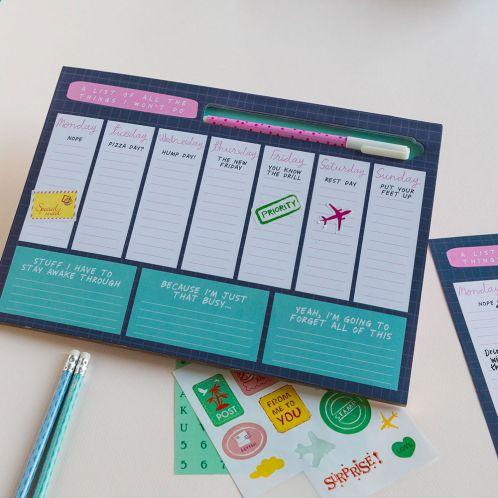 Verjaardagscadeau - Notes To Self weekplanner