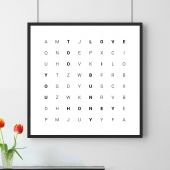 Woordzoeker - personaliseerbare poster